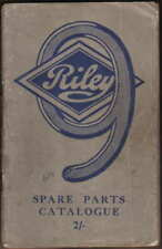 Riley Nine 9 original illustrated Spare Parts Catalogue not dated circa 1935