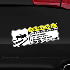 1x Drift Warning Avertissement Voiture Autocollant Shocker Tuning Sticker Car Décalque JDM