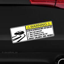 1x Drift Warning Warnung Auto Aufkleber Shocker Tuning Sticker car decal JDM