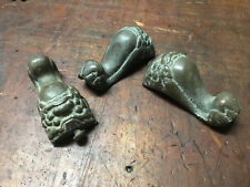 "Antique Cast Brass Furniture Feet Foo Dog's ""1800's"""