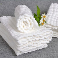 Soft Cotton Baby Infant Washcloth Bath Towel Bathing Feeding Wipe New