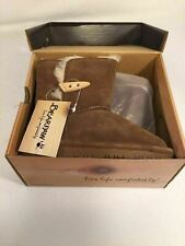 Bearpaw Abigail Hickory II Boot Size 11 Toddler Sheep Fur Wool New