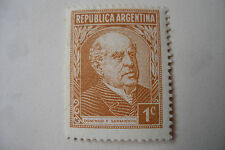 timbre ancien republica argentina 1 c 1935 Sarmiento filigrane