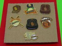 MLB Major League Baseball SEVEN Vintage Pin Badges San Diego Padres Team Sport