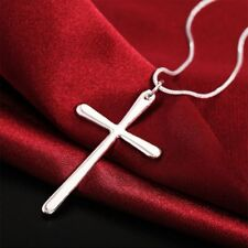 Sale Steel Delicate Stunning Chic Cross Pendant Chain Silver Plated Necklace