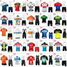 2019 Casual Mens Team Cycling Jersey Bib Shorts Kits Bicycle Tops Short Sleeve