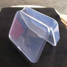 Pequeño Plástico Transparente Caja de almacenaje Contenedor Almacenamiento Nuevo