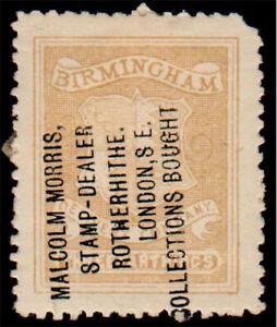 1920/30's Malcolm Morris Stamp Dealer Overprint - Birmingham Circular Delivery