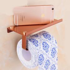 Rose Gold Modern Square Chrome Roll Toilet Paper Holder Bathroom Tissue Holder