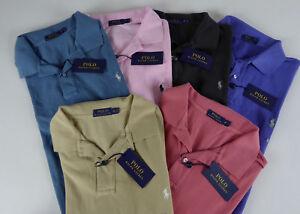 Polo Ralph Lauren SS Weathered Mesh 100% Cotton Polo Shirt w/ Pony NWT $85-98