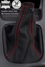 RED STITCH  REAL LEATHER 6 SPEED SHIFT BOOT FITS SUBARU IMPREZA WRX STI 01-05