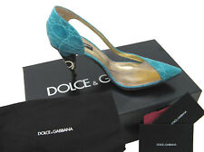 NEW Dolce & Gabbana Genuine Alligator Shoes (Heels)!  US 10 e 40   *AQUA BLUE*