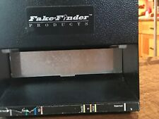 FAKE-FINDER HD8X2-120A UV BLACK LIGHT FLUORESCENCE COUNTERFEIT BILL DETECTOR
