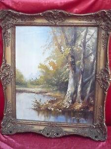 Emebellecedor, Antiguo Pintura __ Waldsee __ Firmado ___
