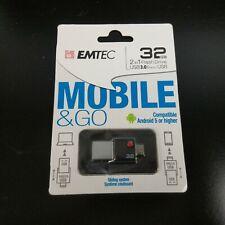 Emtec Duo USB 3.0 & Micro USB Flash Drive ECMMD64GT203