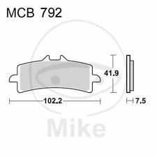 Bremsbelagsatz Scheibenbremse Sinter Carbon Racing TRW MCB792SCR