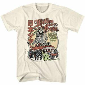 Motley Crue Japan Tour 1987 T Shirt Mens Licensed Rock Retro Band Vintage White