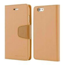 iPhone 6/6s Genuine MERCURY Goospery Sonata Light Brown Flip Case Wallet Cover