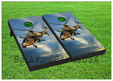 VINYL WRAPS Cornhole Boards DECALS Helicopter Army Bag Toss Game Stickers 273