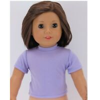 Lavender T-Shirt fits American Girl Dolls 18 inch Doll Clothes Short Sleeve