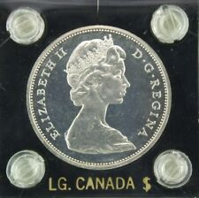 1965 Canada Silver Dollar - Proof Cameo - Small Beads Blunt 5