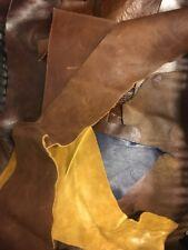 1.8kg Quality Scrap Leather Arts /& Crafts,Off Cuts,Remnants,Pieces MixedColours