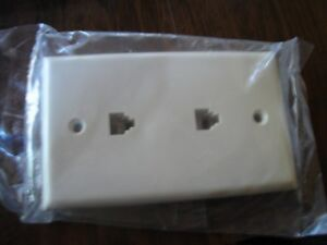6 Dual Phone Jack Wall Mount Plates Telephone Outlet 4-Wire Conductor RJ11