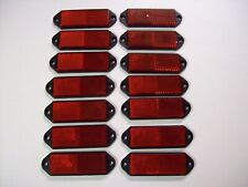 14 rectangular Red Reflectors for Trailers/Fencing/Posts/Gates/Driveways etc
