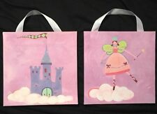 "Set Of 2 Princess Canvas Wall Art from Target 9""x9"""