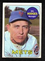 1969 Topps #564 Gil Hodges Manager New York Mets Vintage Baseball Card EX+