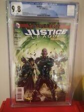 JUSTICE LEAGUE # 30🔥 DC (2014) 2ND CAMEO APPEARANCE OF JESSICA CRUZ🔥 CGC 9.8