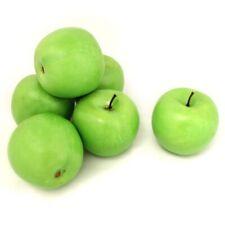 ALEKO 6 Green Apples Artificial Lifelike Plastic Home Decor Fake Fruits