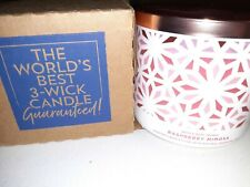 Brand New Bath and Body Works Scented 14.5 oz 3-Wick Candle Raspberry Mimosa