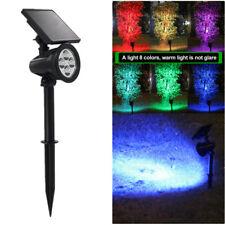 Solar Power Garden Lamp 4 LED Spot Light Outdoor Lawn Landscape Spotlight Lamps