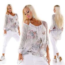 Mehrfarbige Langarm Damenblusen, - tops & -shirts aus Polyester