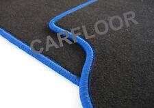 Für BMW 5er F07 Gran Tourismo  Fußmatten Velours schwarz und Rand königsblau