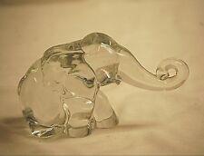Elegant Heisey Elephant Clear Crystal Art Glass Animal Figurine