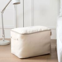 Thick Canvas Quilt Clothes Toy Storage Box Bag Basket  Closet Organizer W Zipper