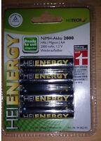 HEITECH NiMH-Akku Mignon AA HR6 1,2 V 2000 mAh  - 4er-Pack