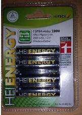 HEITECH NiMH-Akku Mignon AA HR6 1,2 V 2000 mAh 4er-Pack