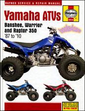 YAMAHA ATV SHOP MANUAL SERVICE REPAIR BOOK 350 BANSHEE WARRIOR RAPTOR