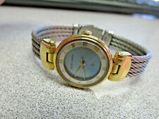 Woman's Philippe Charriol Two Tone Cable Watch 61.96.0836 with Blue Mop Dial