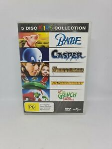 KIDS COLLECTION BABE CASPER PETER PAN & MORE DVD R4 V Good Condition 5 Movies