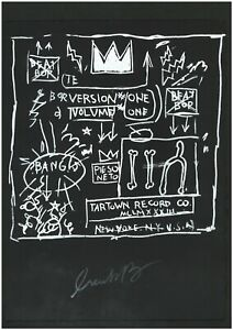 JEAN MICHAEL BASQUIAT old silkscreen - Hand signed in pencil -