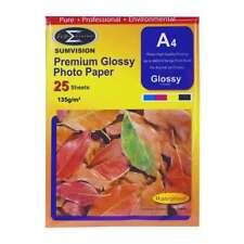 SUMVISION 135g A4 Premium Glossy inkjet photo paper (25 fogli)