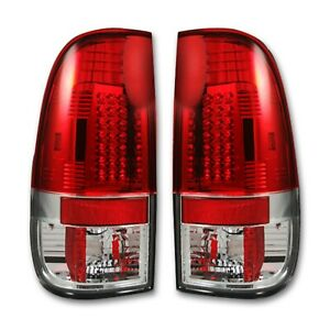 Recon fits 08-16 F250/350/450/550 Super Duty Chrome/Red LED Tail Lights 264176RD