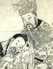 Original Holzschnitt Nepal Tibet Loktapapier handgeschöpt 120 x  45 cm Holzdruck