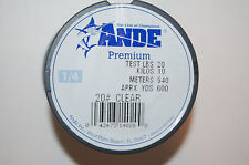 ande premium 20lb fishing line 20# clear made in Germany 600yds spool