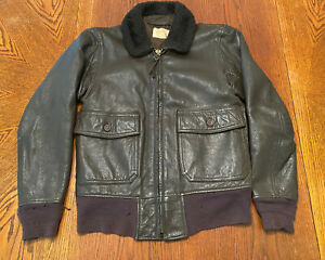 Imperial Fashions Inc. Military Issue G-1 Leather Flight Bomber Jacket, size 38