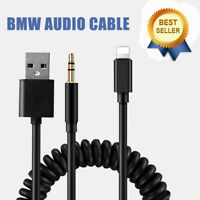 Bmw & Mini iPod iPhone 5 6 7 8 X S SE Interface Audio USB Cable Lead AUX Adapter